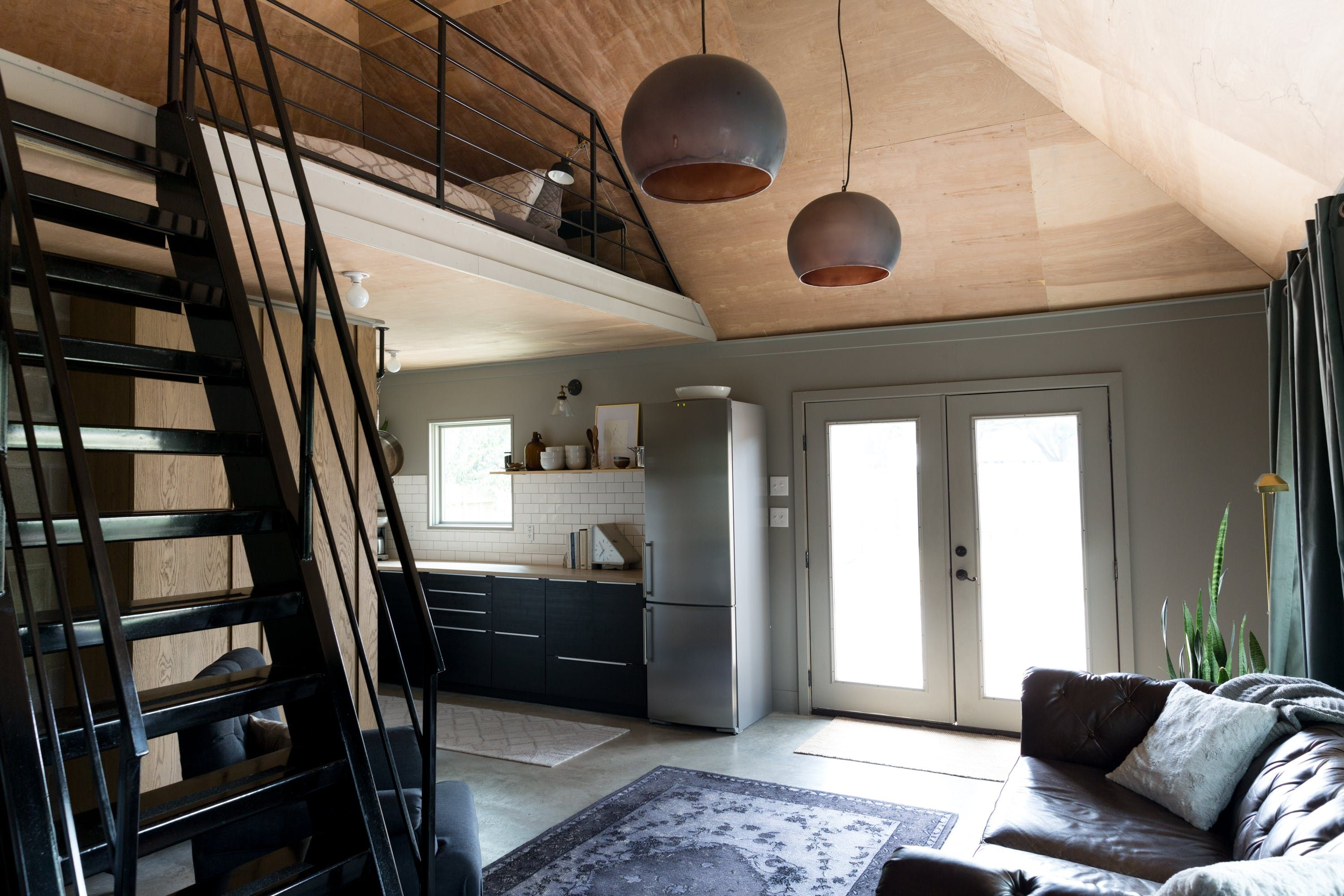 A Modest Modern Tiny Home In A Garage Garage To Living Space