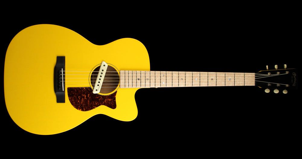 Martin Custom Shop 00 15m Custom Thin Body Acoustic Electric Guitar Tv Yellow The Music Zoo Thin Body Acoustic Electric Guitar Guitar Obsession