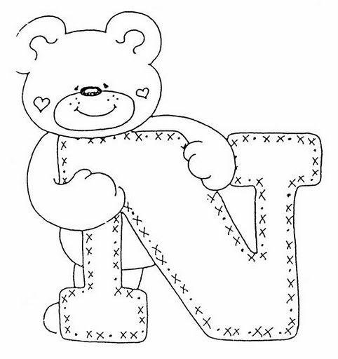 Alfabeto de ositos para colorear  Oh my Alfabetos  dibujos