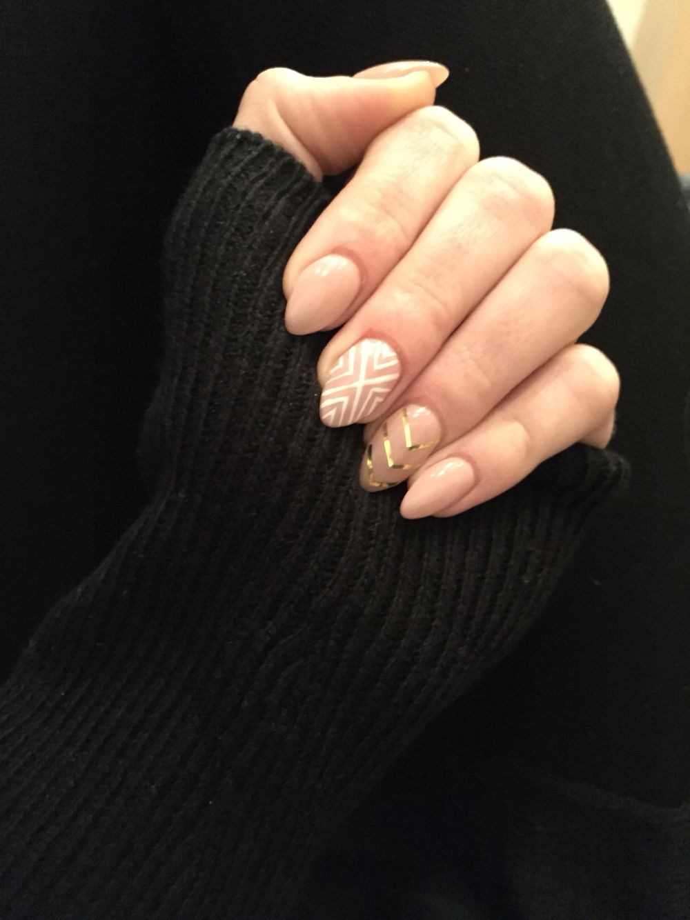 Fesselnde Nägel Muster Dekoration Von #spitz#rosa#muster#gold#gel#nägel