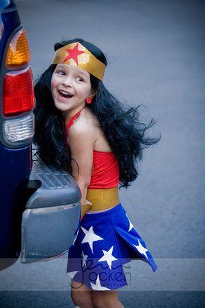 We love Lila's Wonder Woman #Halloween costume! #JOP #JennOckenPhotography #DressUp