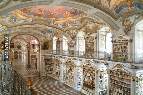 Library in Admont, Upper Styria, Austria