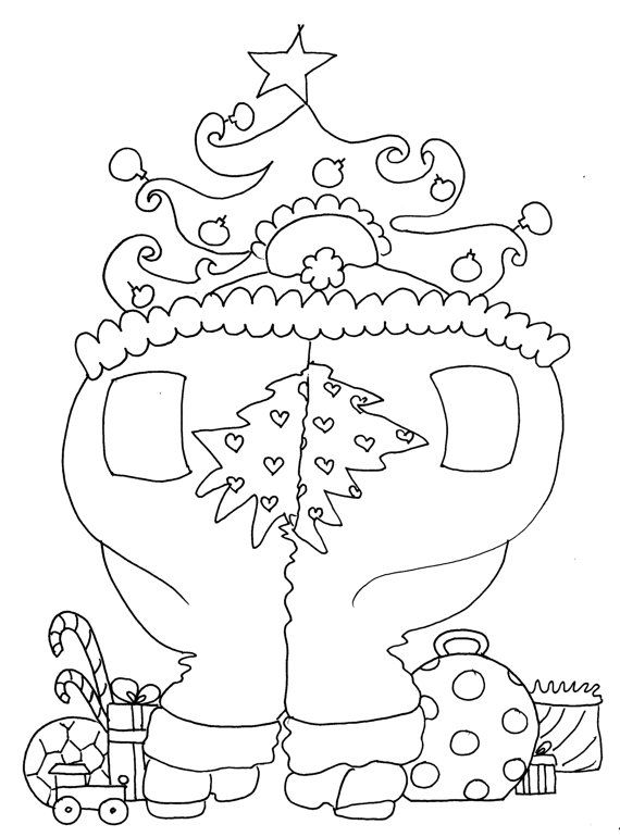 Split Ends Christmas Coloring Pages for Adults from by chubbyart