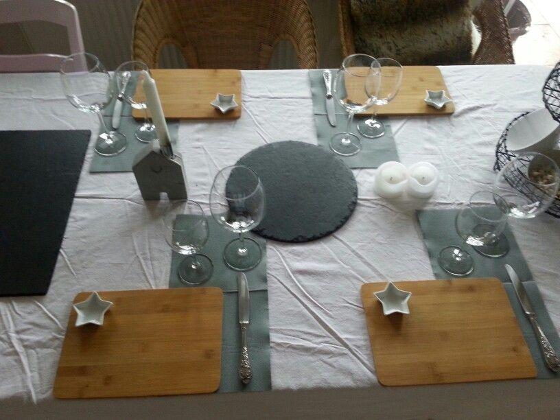Käseabend brettchen schiefer weiß grau sterne etagere