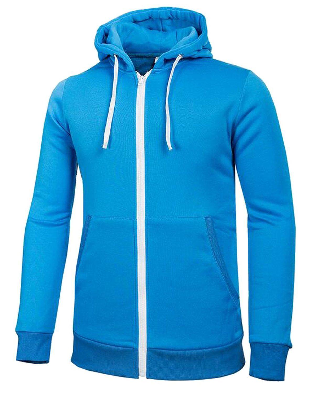 Vska Mens Contrast Front Zipper Baseball Active Sweatshirts Coat Hoodies Men Hoodies Mens Sweatshirts Hoodie [ 1500 x 1197 Pixel ]