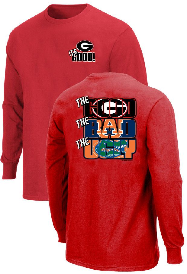 5be33cfe9 Georgia Bulldogs The Good Bad Ugly Red Long Sleeve T Shirt $22.95 ...