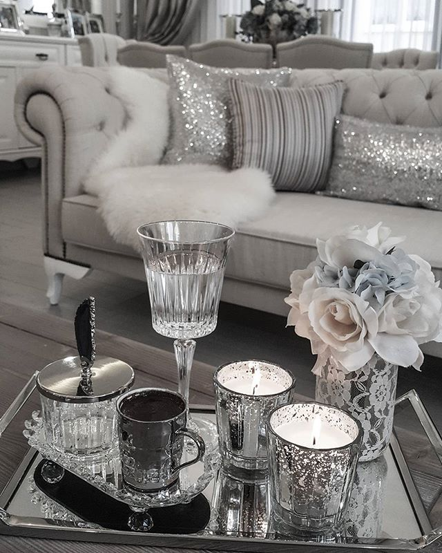 10+ Stunning White And Silver Living Room