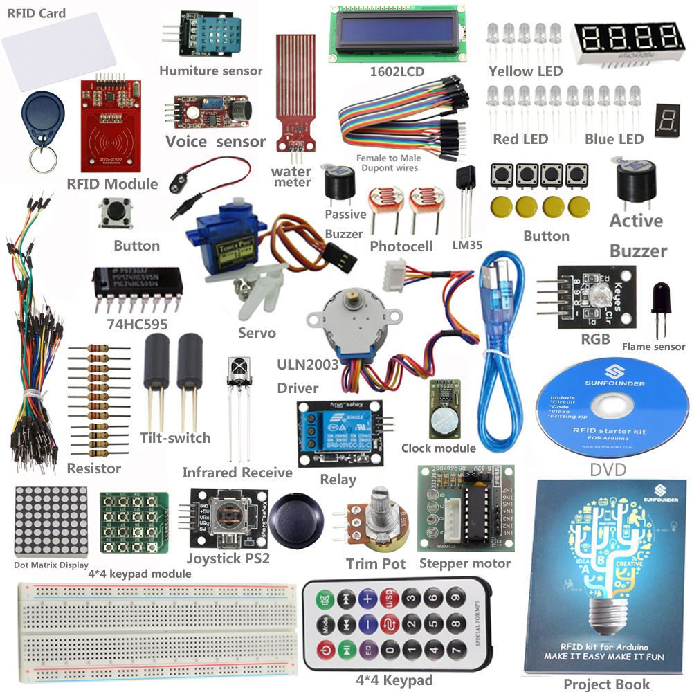 Servo rfid starter learning kit for arduino from knowing