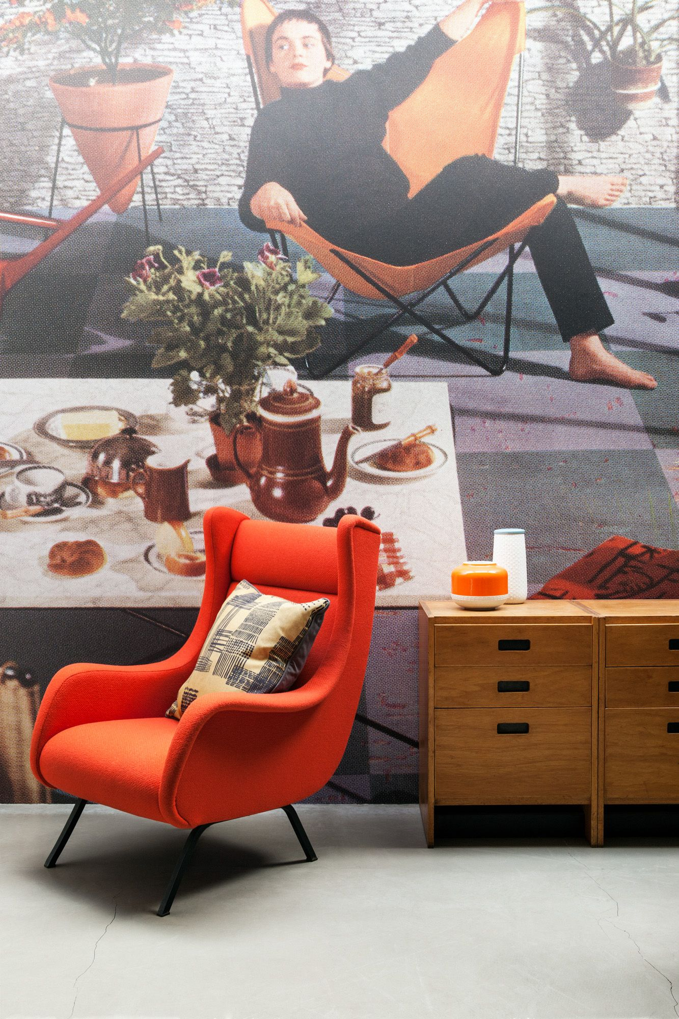 'Vintage Roomset 3' Mural Mid Century Modern Edit, from