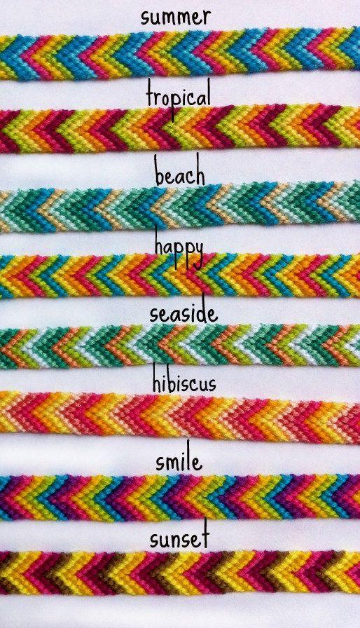 Colorful Chevron Friendship Bracelets (limited time) #friendshipbracelets
