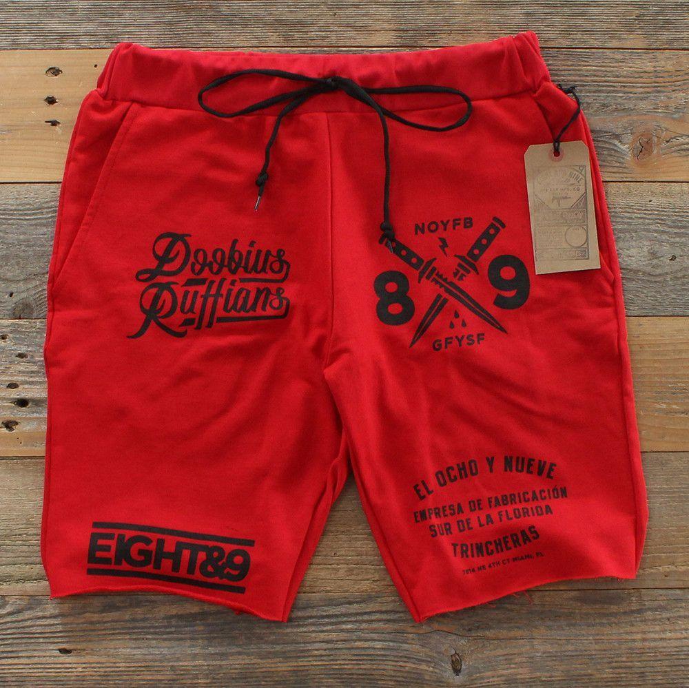 d01a1e2a77 Doobious Ruffians French Terry Shorts Red Kids Shorts, Sport Shorts, Swim  Shorts, Man