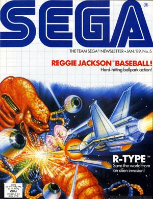 SEGA newsletter, Jan 89' featuring R-Type! Love the artwork
