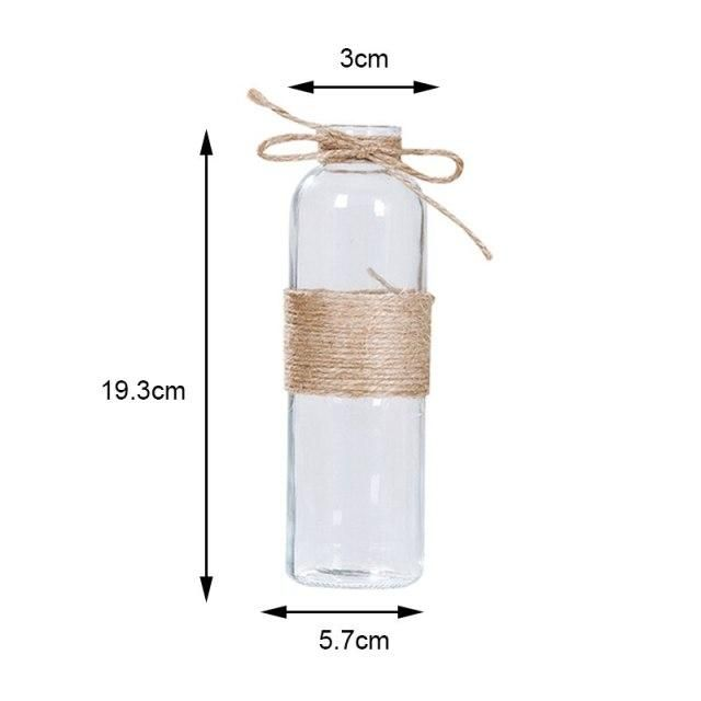 Photo of Dry Flower Vase Hydroponics Plants Vases Ornaments Supplies Creative DIY Valentine's Day Nordic Transparent Glass Vases – A