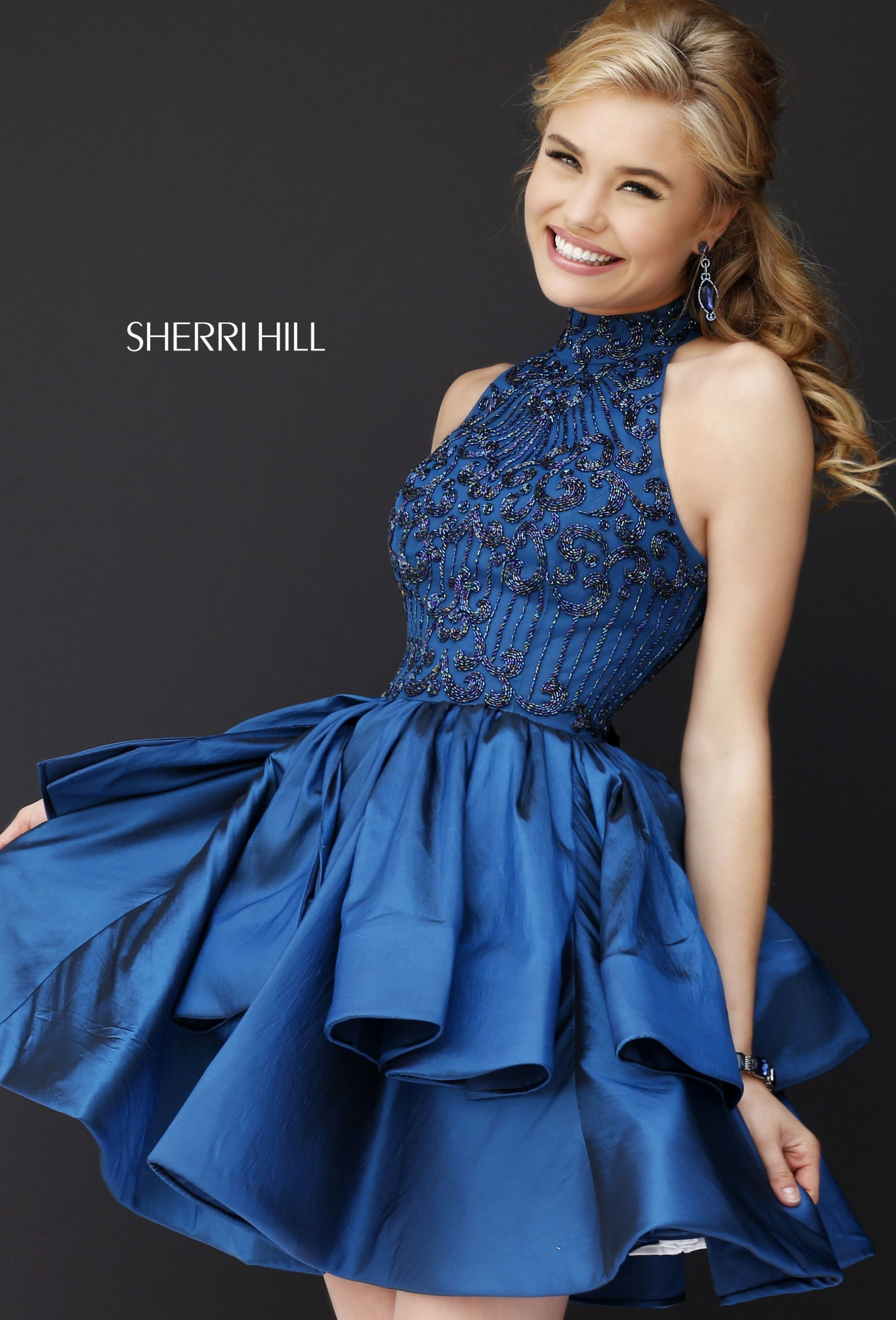 93a5f736667 Sherri Hill 32338 Navy Blue Short Dress Ypsilon Dresses Prom Pageant Evening  Gown Special Occasion Homecoming Sweethearts Black Tie Red Carpet Holiday  Party ...