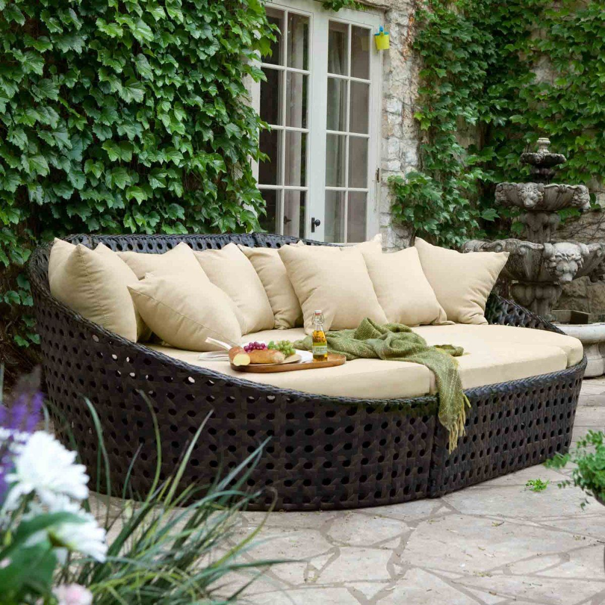 All Weather Patio Wicker Furniture Sets For Cozy Outdoor Lounge