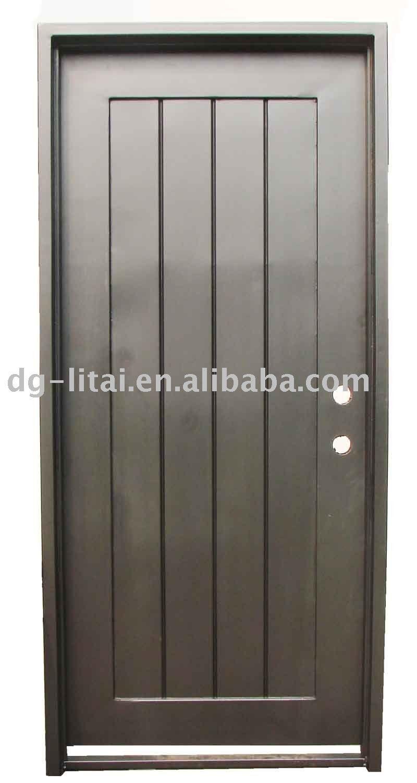 Puerta de hierro forjado puerta identificaci n del - Puertas de metal para casas ...