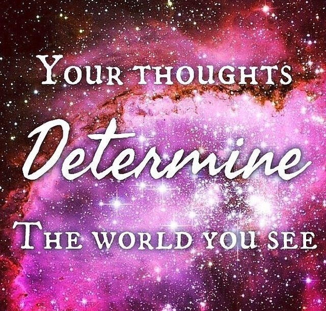 Our thoughts determine the world we see❤️ #thoughts #thoughtfulquote