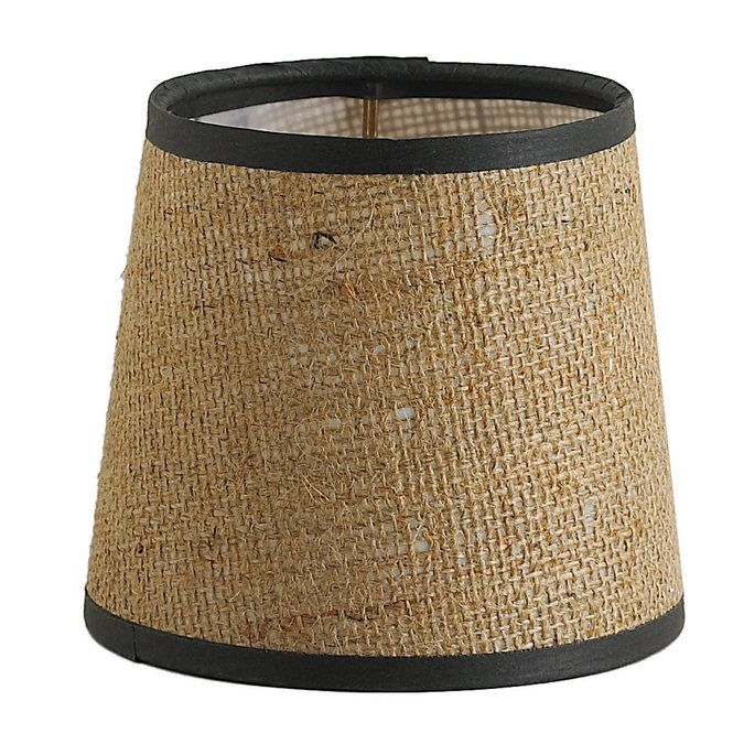 5 Burlap Chandelier Shade With Brown Trim Chandelier Shades