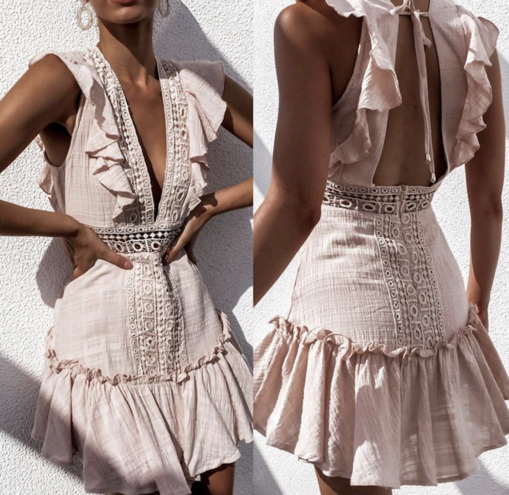 White Embroidery Lace Cotton Dress #whiteembroidery