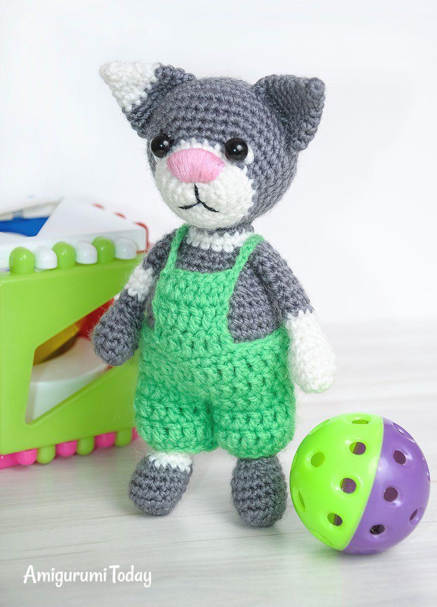 Toby The Cat Amigurumi Pattern Crochet Cat Pattern Cat