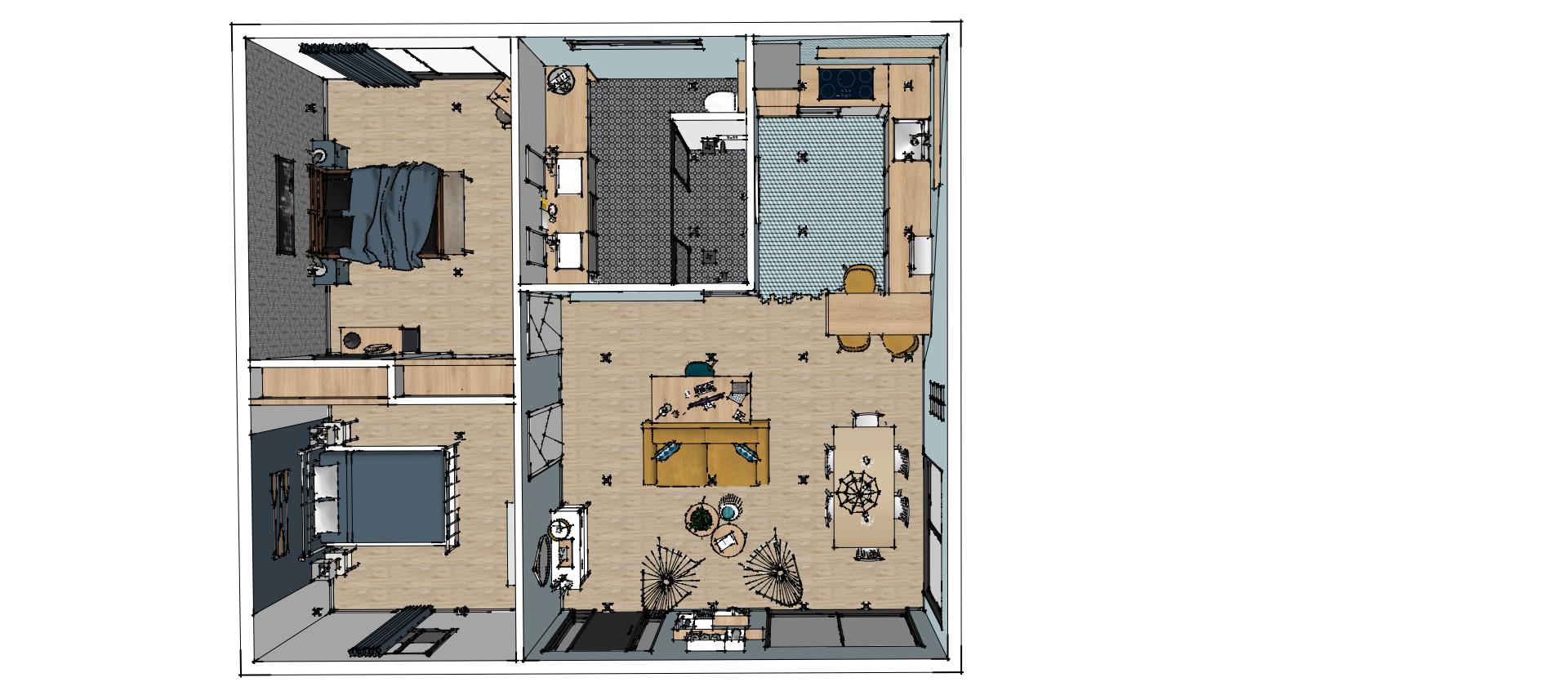 45++ Plan salon sejour cuisine 60m2 ideas