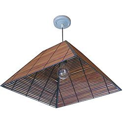 @Overstock - Japanese 17-inch Yamanote Ceiling Lantern (China) - Bring a touch of oriental elegance into your home with this Japanese decorative lantern. Crafted of mocha-stained bamboo, this piece is both an eco-friendly and attractive addition to any living area. It also comes ready to hang right out of the box.  http://www.overstock.com/Worldstock-Fair-Trade/Japanese-17-inch-Yamanote-Ceiling-Lantern-China/4749992/product.html?CID=214117 $88.00