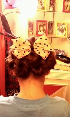 the back of my sisters hair