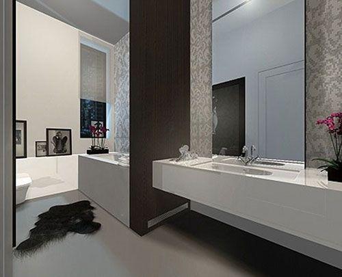 Minimalistische badkamer ontwerpen interieur inrichting