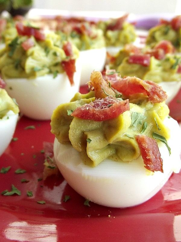 Avocado Deviled Eggs | Life With Garnish The Ultimate Party Week 44