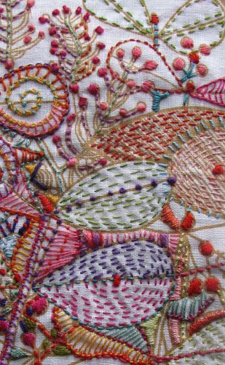 Modern embroidery looks like traditional Kantha needlework
