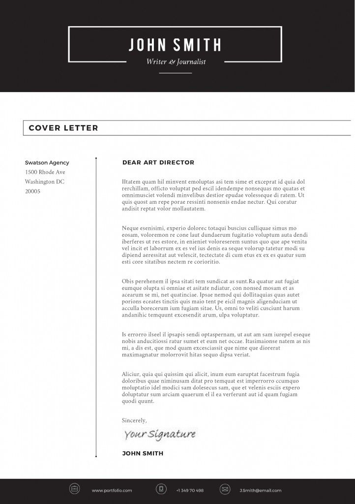 Sleek Resume Template Cover Letter
