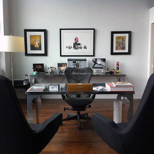 75 Small Home Office Ideas For Men
