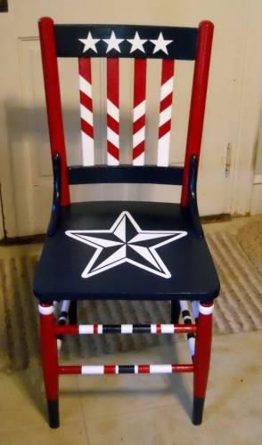 Fantastic Red White And Blue Baby Americana Crafts Painted Chairs Short Links Chair Design For Home Short Linksinfo