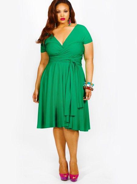 18++ Kelly green plus size dress ideas
