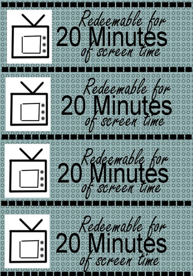 Printable Screen Time Certificates In 20  Minutes Great Idea To Manage Their Screen Time This Summer