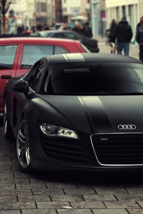 Dream Car Audi R8 Matte Black Racing Stripe Vroom Vroom