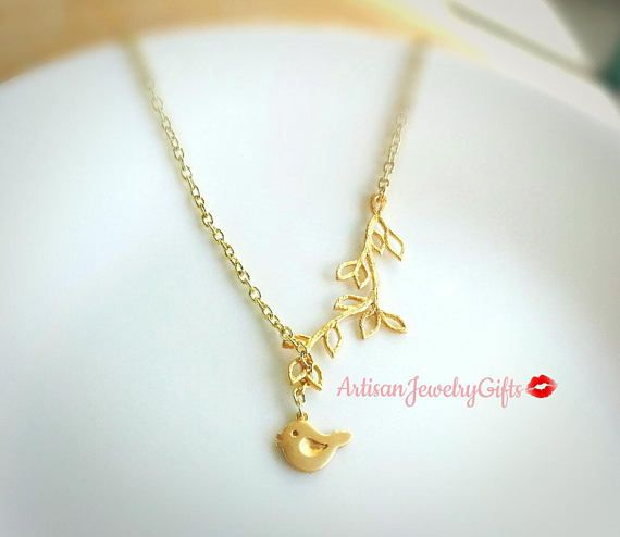 Matte gold cute bird necklace gold branch lariat necklace gold matte gold cute bird necklace gold branch lariat necklace gold sparrow necklace branch necklace mothers day aloadofball Images