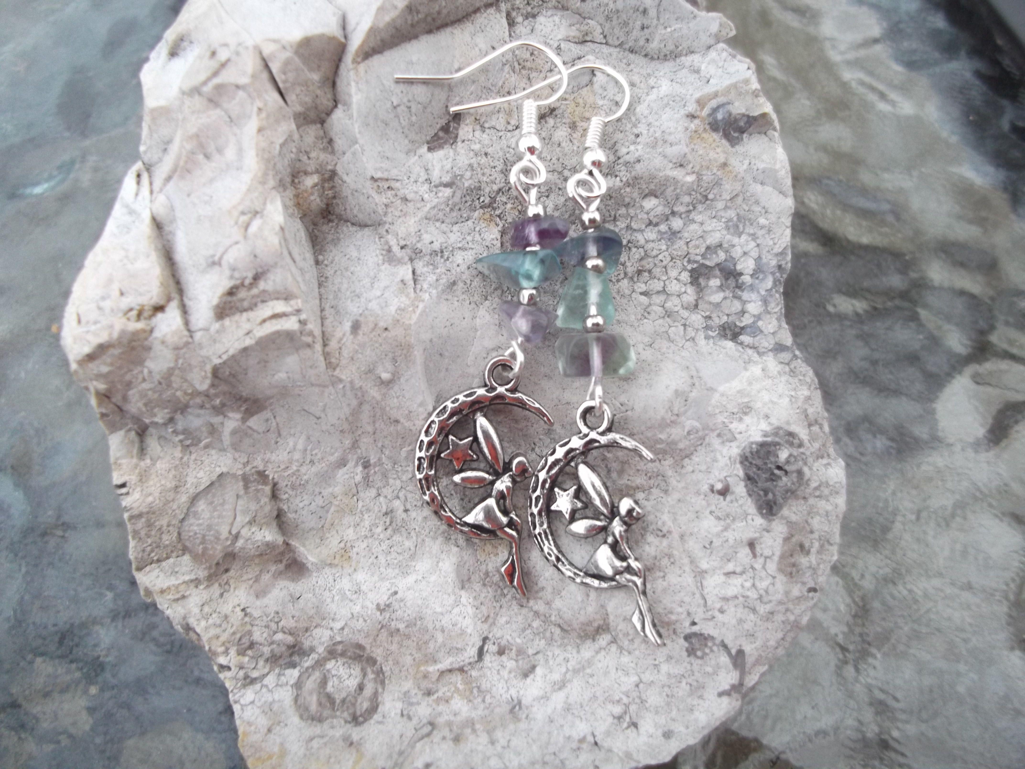 <3 Fluorite Fairy Earrings <3