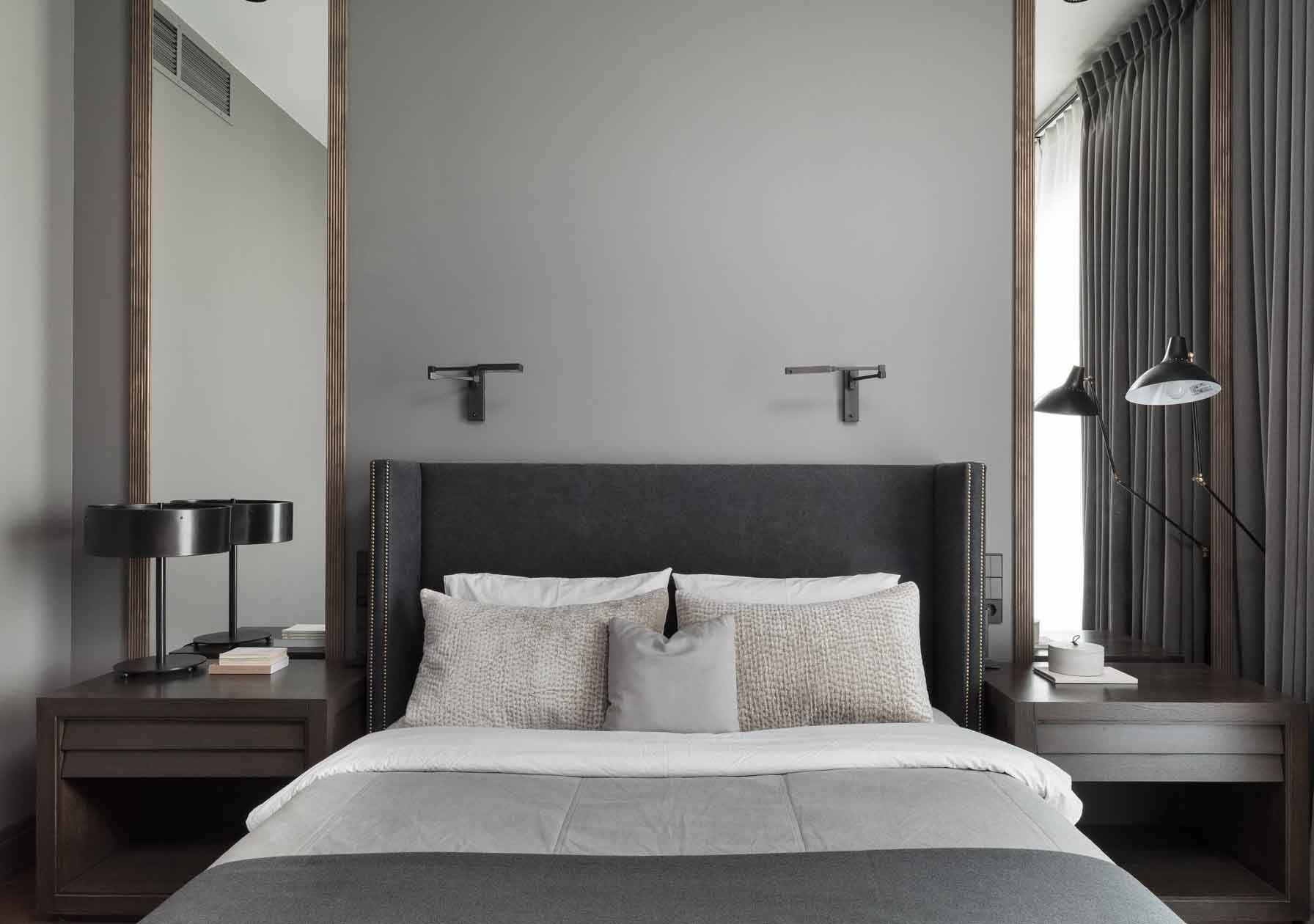 Best Grey Shelter Bed Luxury Bedroom Modern Classic Bedroom 640 x 480