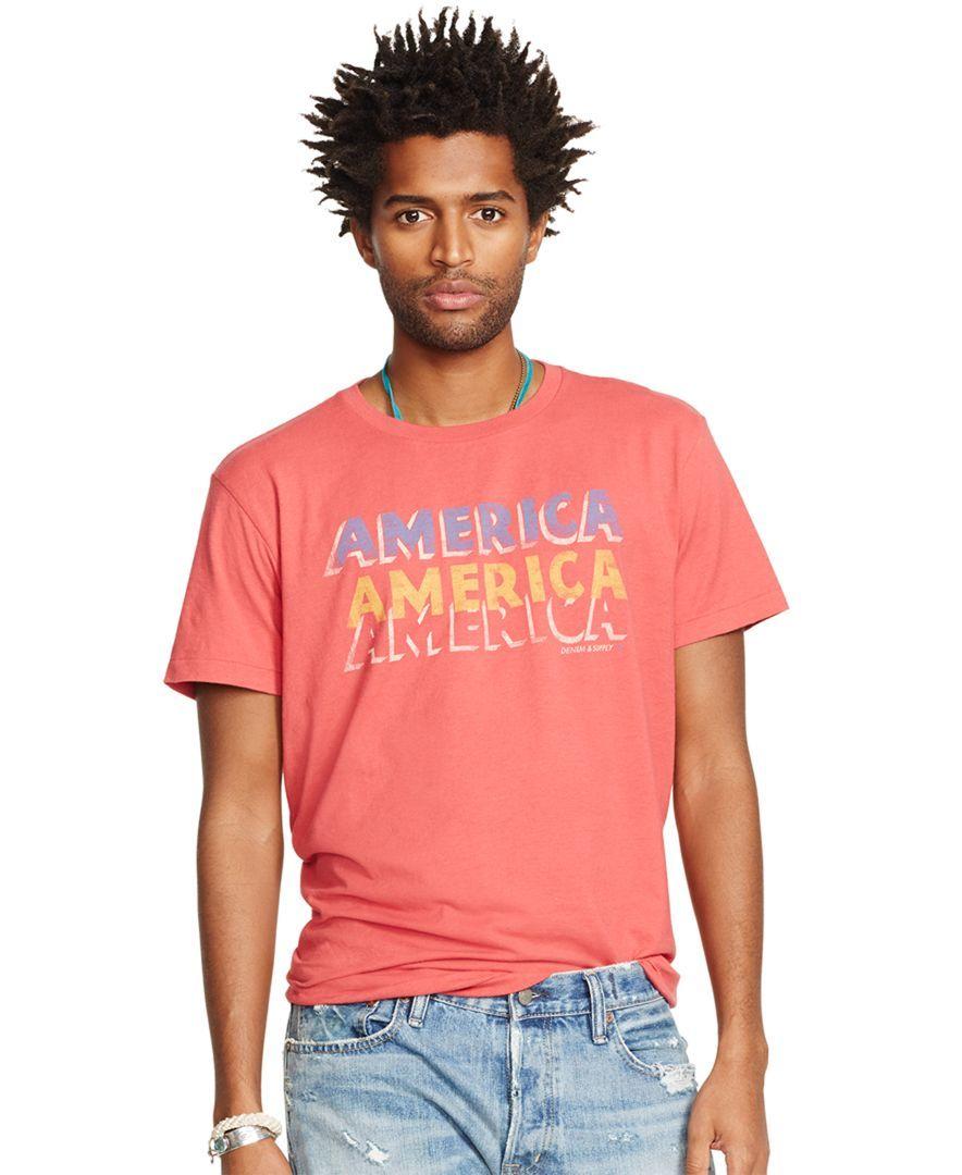 Denim & Supply Ralph Lauren Cotton America Graphic T-Shirt