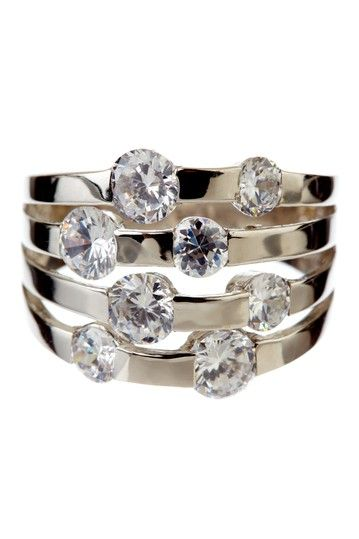 Fray Dee Jewelry  Scattered CZ Ring