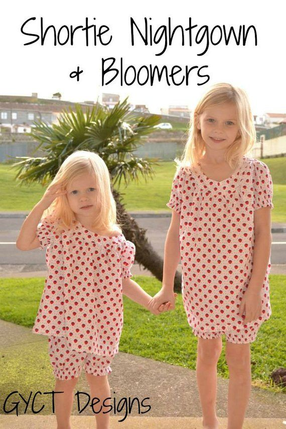 530d7d47c Shortie Nightgown and Bloomers PATTERN