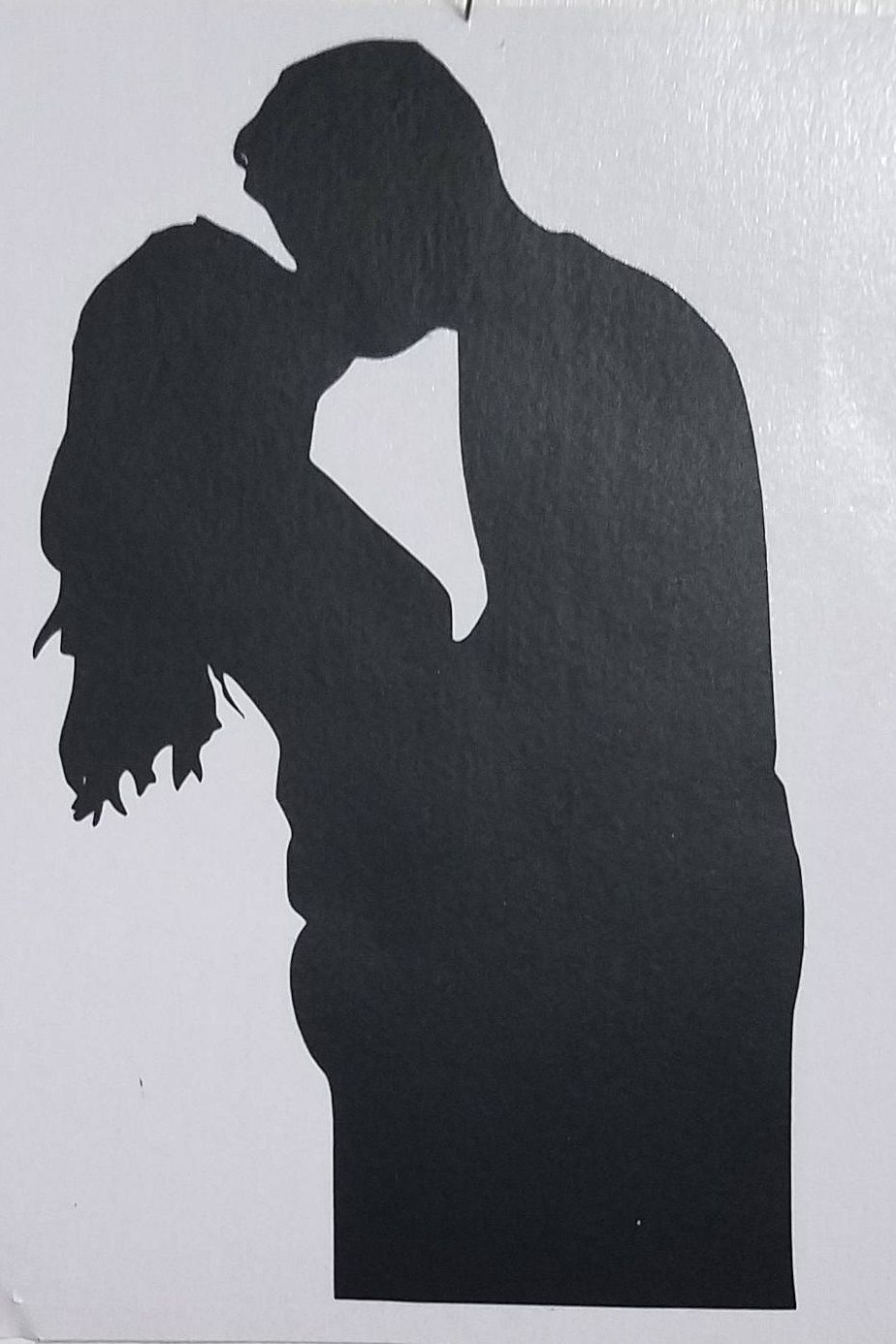 Kissing Couple Silhouette Vinyl Decal Decal Window Decal Vinyl