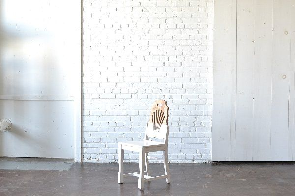 White & Wood Blocked Chairs: These little wooden and white beauties are so unique!  With a lovely carved back these chairs are perfect for photo shoot props, lounge areas or sweetheart seating!