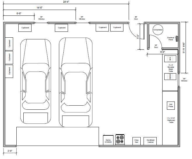 Teamchevy 39 s garage shop build the garage journal board for 2 car garage workshop layout