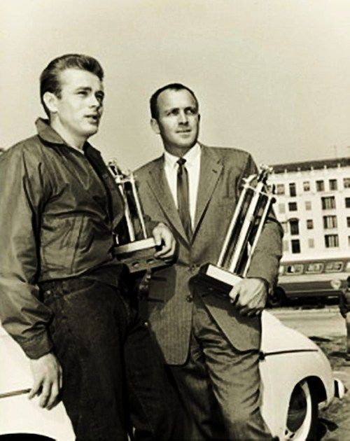Jimmy and his racing trophies