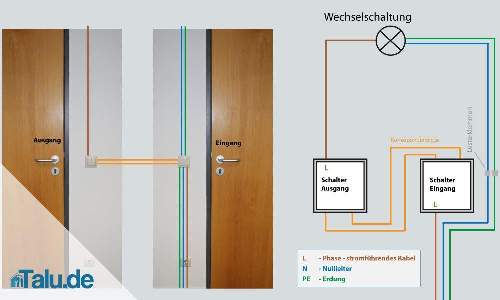 Schaltplan Wechselschaltung Lichtschalter | Haus | Pinterest