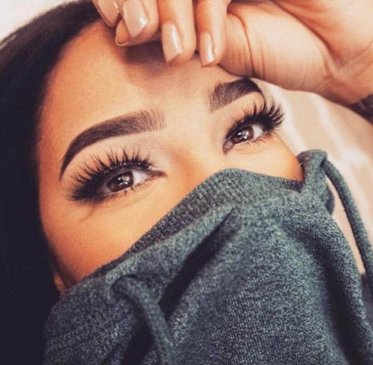 Brows and lashes on fleek