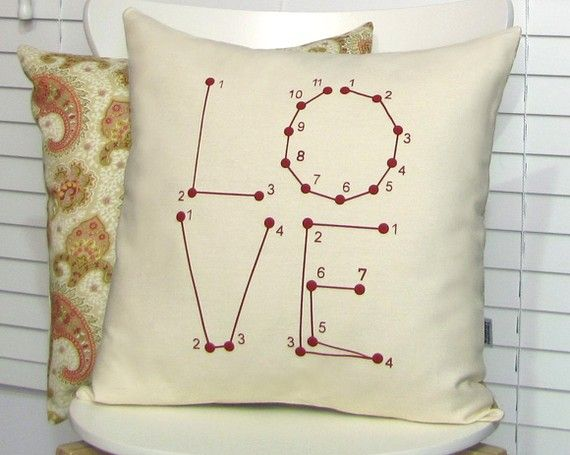 Love Pillow Cover Connect The Dots Puzzle Game By Sweetharvey 28 00 Throw Pillows Pillow Covers Throw Pillow Covers