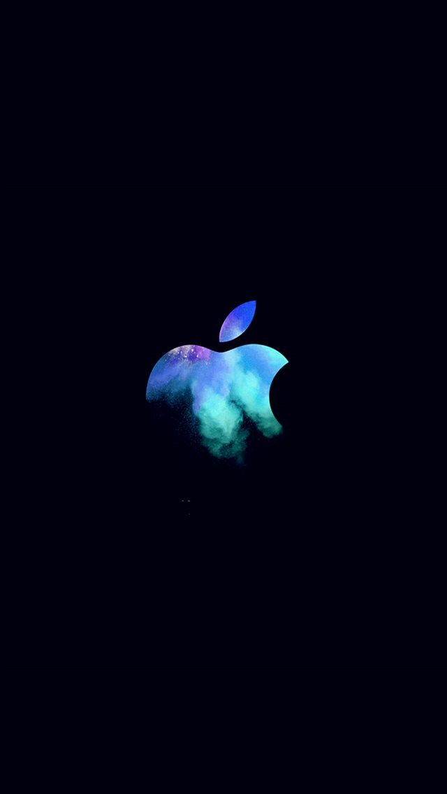 Apple Mac Event Logo Dark Illustration Art Blue Iphone 8 Wallpaper